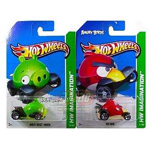 Hot Wheels - Angry Birds - Red Bird + Minion (KIT)