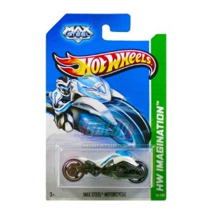 Hot Wheels - Max Steel Motorcycle - Branco e Preto