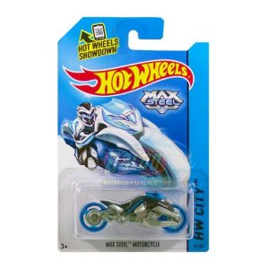Hot Wheels - Max Steel Motorcycle - Preto e Cinza
