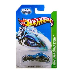 Hot Wheels - Max Steel Motorcycle - Azul e Preto