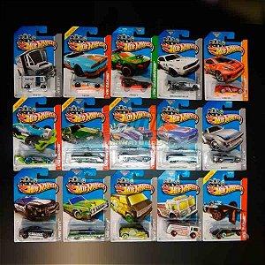 Hot Wheels - Coleção Completa de Treasure Hunts 2013 -composto de 15 carrinhos; Dodge Drift Car, 64 Lincoln Continental, Fast Fish….