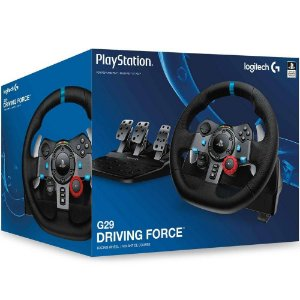 PS4 - Volante Logitech G29 Driving Force Race Wheel - PS4 / PS3 / PC