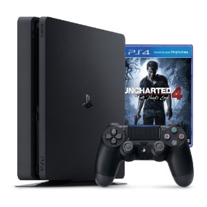 PS4 - Console PlayStation 4 Slim 500GB + Uncharted 4