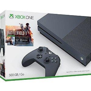 XboxOne - Console Xbox One S 500GB - Edição Battlefield 1 - Microsoft (Preto)