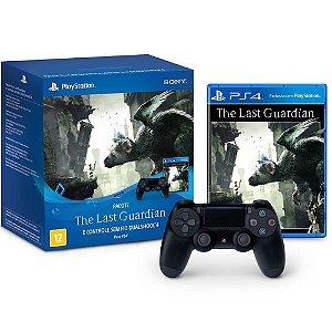 PS4 - Controle Sem Fio Dualshock 4 Preto + The Last guardian