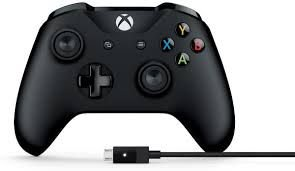 XboxOne - Controle Xbox One S Preto com cabo para Windows