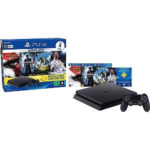 PS4 - Console Playstation 4 Slim - HD 500 Gb + 4 Jogos - Oficial Sony Brasil