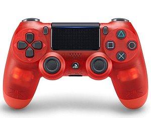 PS4 - Controle Sem Fio Dualshock 4 - Vermelho Cristal
