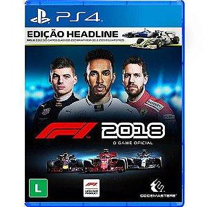 PS4 - Fórmula 1 2018 - F1 2018 - Edição Headline