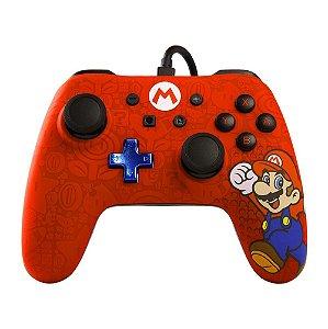 Switch - Controle Com Fio Super Mario Edition - Mario