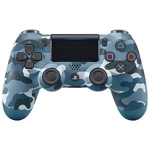 PS4 - Controle Sem Fio Dualshock 4 - Camuflado Azul
