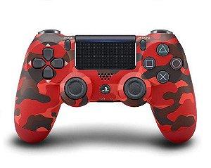 PS4 - Controle Sem Fio Dualshock 4 - Camuflado Vermelho