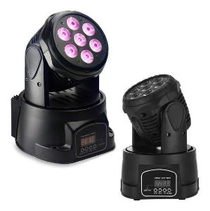 Mini Moving Beam 7 Leds Rgb DMX