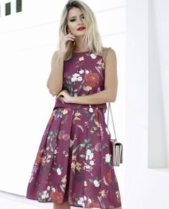 BLUSA CREPE CROPPED FLORAL