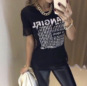 BLUSA  T-SHIRT FUN GIRLCOM RENDA