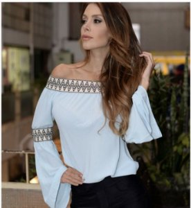 BLUSA TIFANY CREPE OMBRO A OMBRO