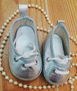 sapatilha prata menina tiny toty