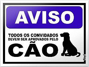 Placa Decorativa - Aprovados pelo cão
