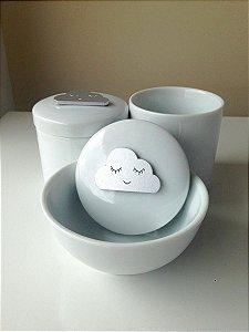 Kit Higiene Porcelana Nuvem