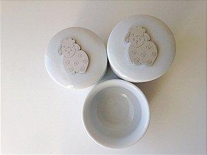 Kit Higiene Porcelana Ovelhinha Nic