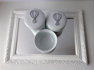 Kit Higiene Porcelana Balão com Bandeja