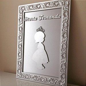 Porta de Maternidade com Espelho e Princesa