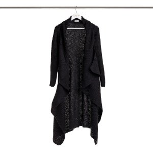 Casaco Maxi Tricot Longo Comphy All Black