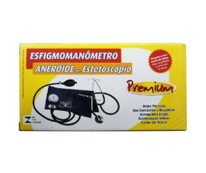 ESFIGMOMANÔMETRO COM ESTETOSCÓPIO - PREMIUM