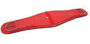 Barrigueira Larga de Neoprene Importada Inox Vermelha Red Dust