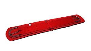 Barrigueira de Neoprene Importada Reta com Inox Vermelha Red Dust