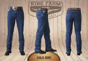 Calça Jeans Masculina Country Escura Gold King Original King Farm