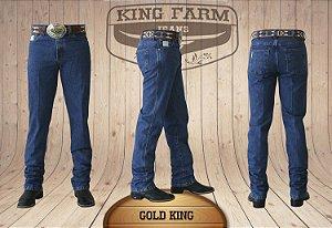 Calça Jeans Masculina Country Escura Gold King Original King Farm