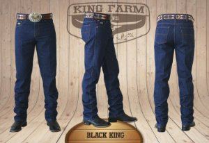 Calça Jeans Masculina Country Escura Black King Original King Farm