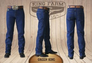 Calça Jeans Masculina Country Escura Green King Original King Farm