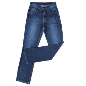 Calça Jeans Masculina Country Azul Escuro Silver King Farm (Lançamento)