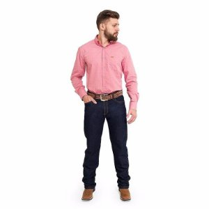 Calça Jeans Masculina Country Elastano Amaciado Pura Raça 4527