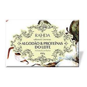 Sabonete Cremoso Rahda Algodão & Proteínas do Leite, Hidrata e Perfuma