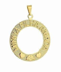 Pingente Mandala Minha Filha Amada Folheada A Ouro 18k