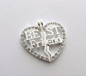 Pingente Amizade Best Friends Melhores Amigas Folheado - B1