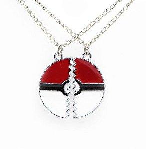 Colar Pokebola Pokemon Go Melhores Amigos Amizade