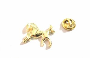 Pin Botton Broche Cavalo Country Folheado A Ouro - 1