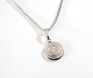 4c499eb4c6b58 Colar Medalha São Bento Pequena Aço Inox