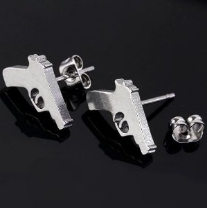 Brinco Arma Delegada Policial Revolver Niquel