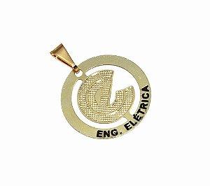 Pingente Profissão Engenharia Elétrica Folheado Ouro Lindo