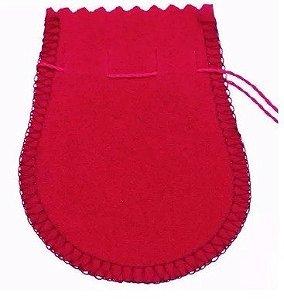 1 Saquinho De Veludo Vermelho Ou Preto Para Joias.
