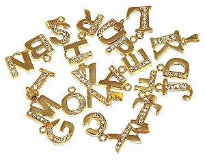 Kit 50 Pingentes Iniciais Nome Letras Folheados A Ouro 18k