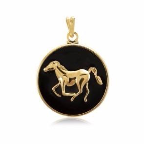 Pingente Cavalo Country Folheado A Ouro 18k. Lindíssimo!