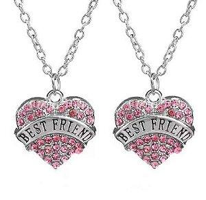 Colar Amizade Best Friends Melhores Amigas 2 Partes - B64