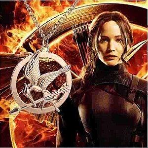 Gargantilha Jogos Vorazes Katniss Folheado A Ouro 18k.