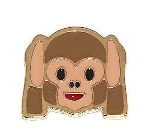 Kit Revenda 10 Pin Botton Broche Emoticons Macaco Surdo